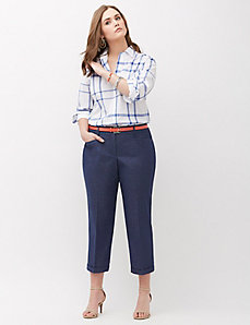 Sophie Faux-Denim Slim Crop