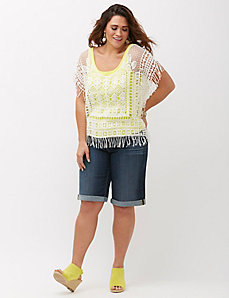 Crochet Dolman Fringe Top