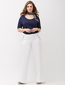 Sailor Wide Leg Denim Pant