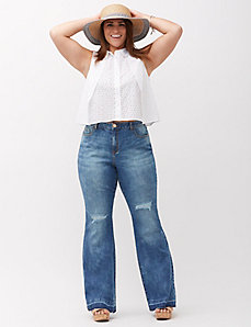 High-Rise Flare Jean