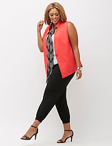 Infinite Stretch Chiffon-Back Vest