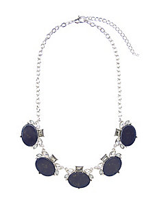 Navy stone statement necklace