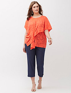 Draped Jacquard Top