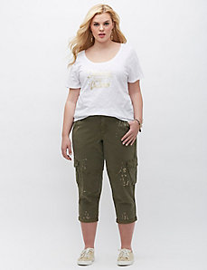Metallic Splatter Cargo Crop