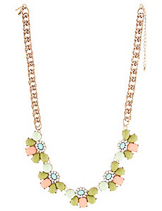 Multi-Color Floral Necklace