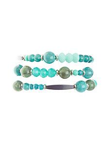 3-Row Beaded Bracelet