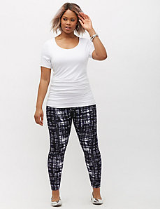 Printed Taylor Seamed Legging by Lysse