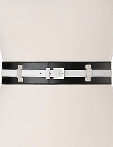 Colorblock stretch belt