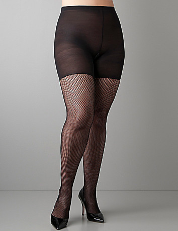 Control top fishnet tights by SPANX