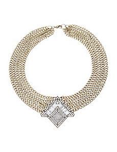 Multi chain deco necklace