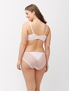 Lace back cotton hipster panty
