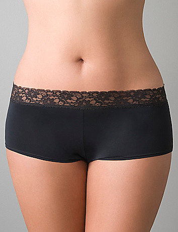 Lace waist boyshort panty by Cacique
