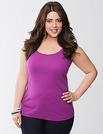 Plus Size Ribbed Layering Tank by Lane Bryant