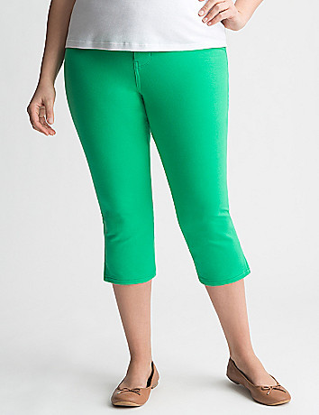 Colored jegging capri by Lane Bryant