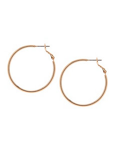 Small goldtone hoop earring by Lane Bryant