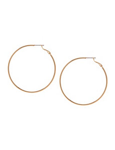 Large goldtone hoop earrings by Lane Bryant