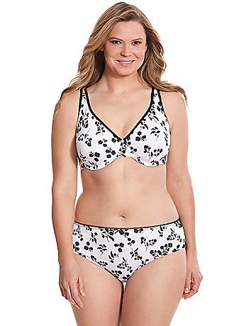 Plus size cotton full coverage bra