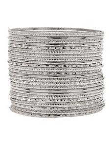 24 row bangle bracelet set by Lane Bryant
