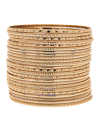 24 row bangle bracelet set by Lane Bryant