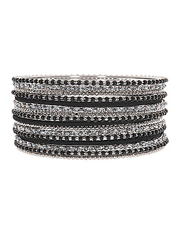 Thread and bead bangle bracelet set by Lane Bryant