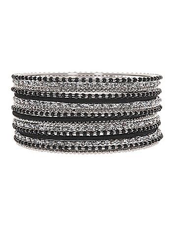Thread and bead bangle bracelet set by Lane Bryant