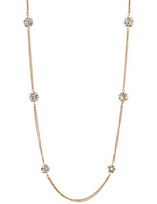 Fireball double chain necklace by Lane Bryant