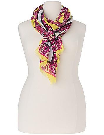 Vine print scarf by Lane Bryant