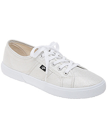 LB Kicks Metallic Canvas Wide Width Sneaker by Lane Bryant