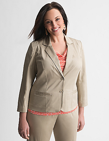 Sateen suit jacket by Lane Bryant