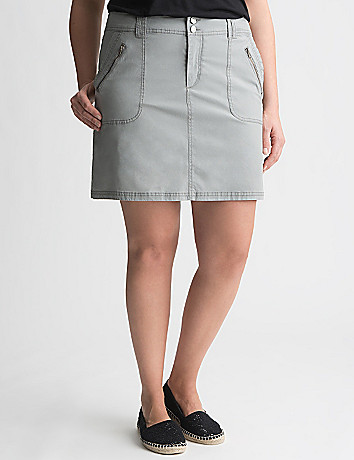 Poplin Skort by Lane Bryant