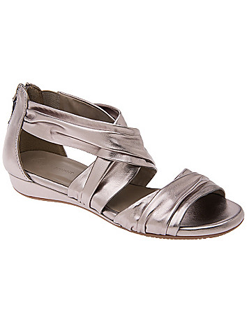 Cross strap comfort wedge sandal