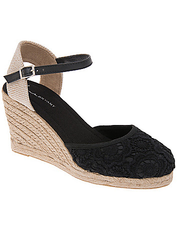 Wide Width Macrame Wedge by Lane Bryant