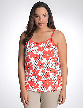 Plus size floral dot cami