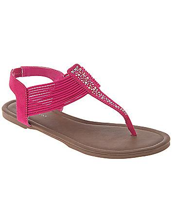 Wide Width Strappy Embellished Sandal