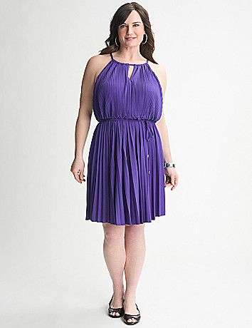 Plus Size Pleated Dress by Lane Bryant