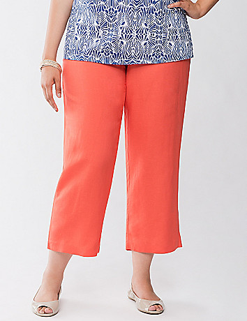 Linen capri by Lane Bryant