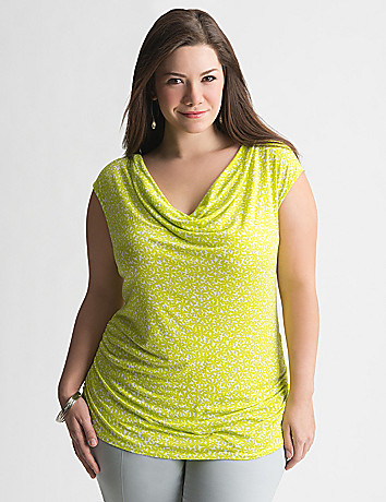 Plus Size Draped Daisy Top by Lane Bryant