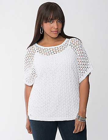 Open Stitch Dolman Sweater by Lane Bryant