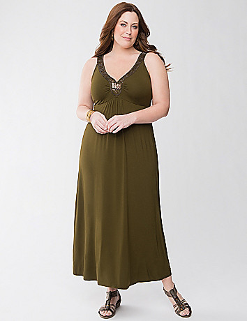 Embellished knit maxi dress by Lane Bryant