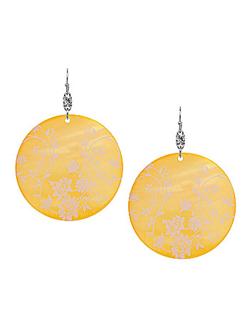 Floral shell disc earrings by Lane Bryant