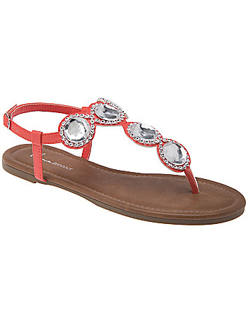 Wide Width Jeweled Sandal by Lane Bryant