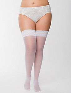 Back seam thigh highs