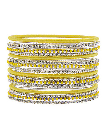 16-row beaded bangle bracelet set by Lane Bryant