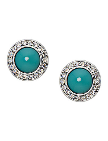 Cabochon button earrings by Lane Bryant