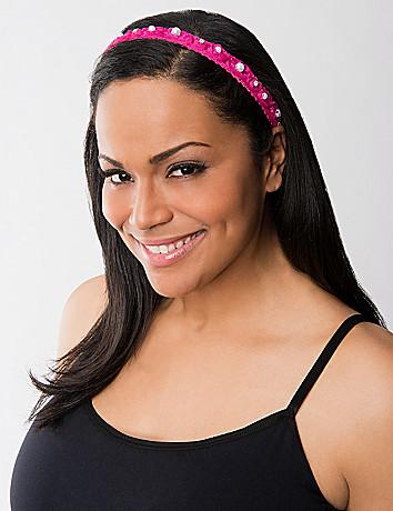Pearl & rosette headwrap
