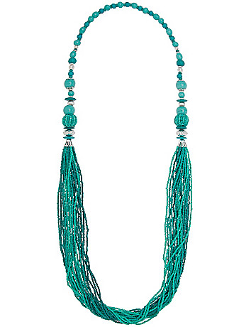 Multi bead necklace by Lane Bryant