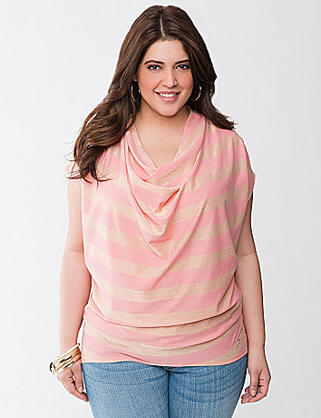 Stripe cowl top by Seven7