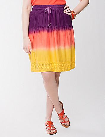 Dip-dye crochet skirt
