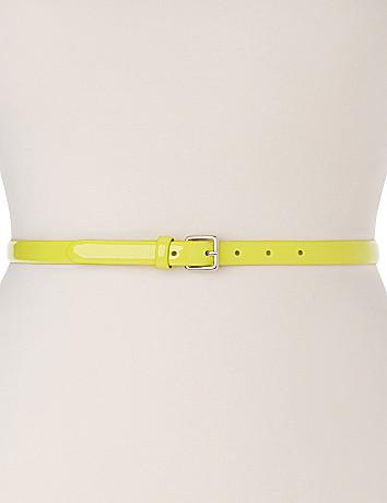 Smooth patent skinny belt