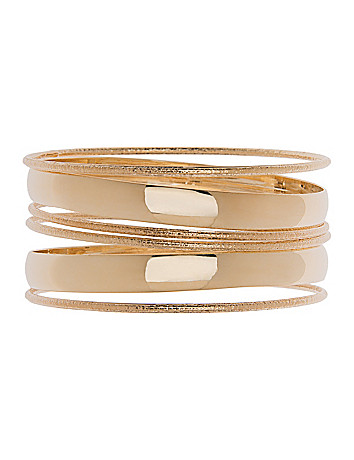 Textured 6 row bangle bracelet set by Lane Bryant